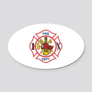 MALTESE CROSS Oval Car Magnet