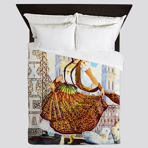 Puebla Mexico ~ Vintage Travel Queen Duvet