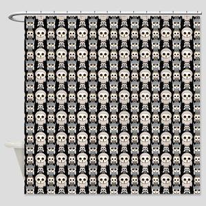 Cute Owl Pattern on Black Background Shower Curtai