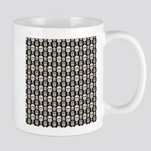 Cute Owl Pattern on Black Background Mugs