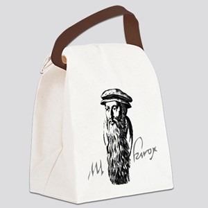 John Knox Portrait with Signature Canvas Lunch Bag