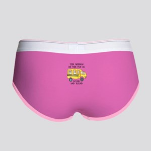 THE WHEELS ON THE BUS Women's Boy Brief