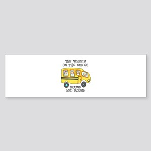 THE WHEELS ON THE BUS Bumper Sticker