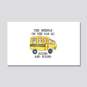 THE WHEELS ON THE BUS Car Magnet 20 x 12