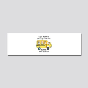 THE WHEELS ON THE BUS Car Magnet 10 x 3