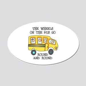 THE WHEELS ON THE BUS Wall Decal
