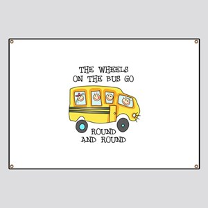 THE WHEELS ON THE BUS Banner