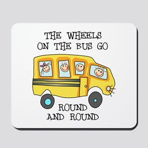 THE WHEELS ON THE BUS Mousepad