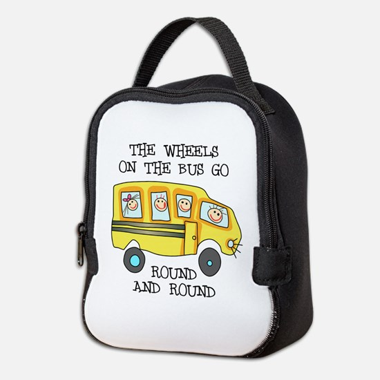 THE WHEELS ON THE BUS Neoprene Lunch Bag