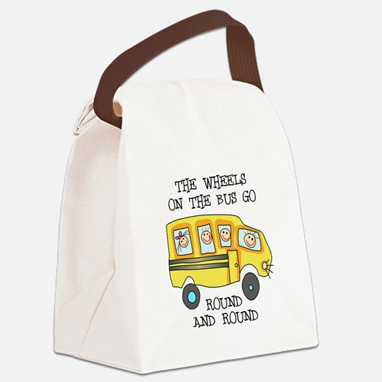 THE WHEELS ON THE BUS Canvas Lunch Bag