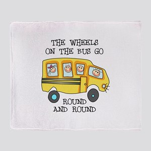 THE WHEELS ON THE BUS Throw Blanket