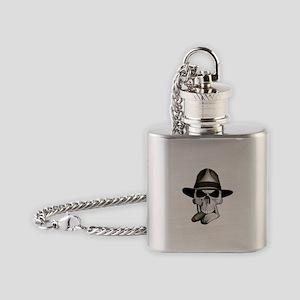 Mafia Skull Flask Necklace