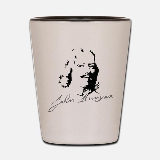 John Bunyan Portrait with Signature Shot Glass