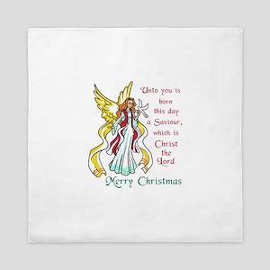 CHRIST IS BORN TODAY Queen Duvet