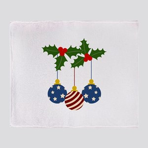 PATRIOTIC CHRISTMAS Throw Blanket