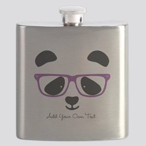 Cute Panda Purple Flask
