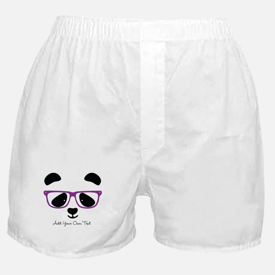 Cute Panda Purple Boxer Shorts
