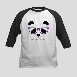 Cute Panda Purple Baseball Jersey