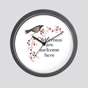 OLD CROWS ARE WELCOME Wall Clock