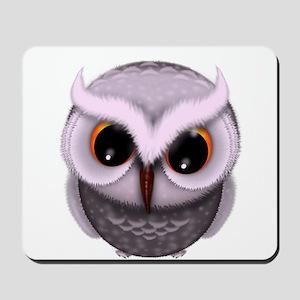 Cute Purple Spotted Owl Illustration Mousepad