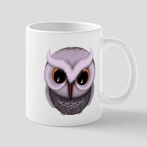 Cute Purple Spotted Owl Illustration Mugs