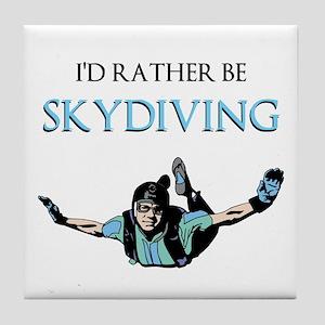 Rather Be Sky Divin... Tile Coaster