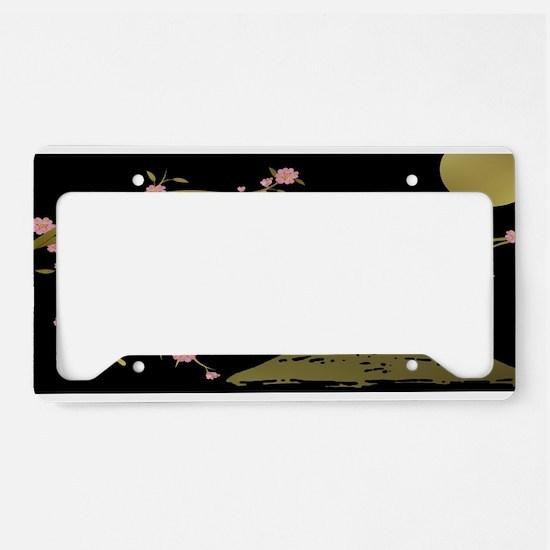 Pink Sakura Gold Black License Plate Holder