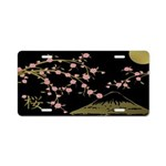 Pink Sakura Gold Black Aluminum License Plate