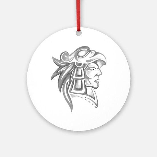 Aztec Tattoo Ornament (Round)