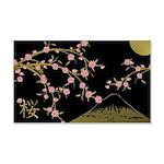 Pink Sakura Gold Black Wall Decal