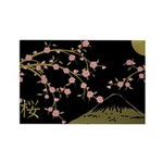 Pink Sakura Gold Black Magnets