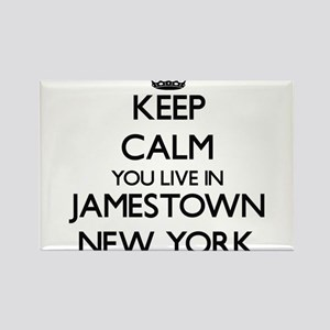 Keep calm you live in Jamestown New York Magnets