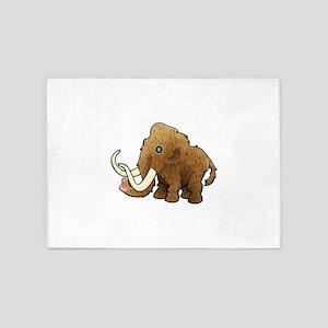Shaggy Blue Eyed Wooly Mammoth 5'x7'Area Rug
