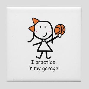 Basketball - Garage Tile Coaster