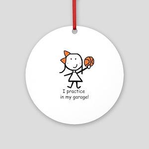 Basketball - Garage Ornament (Round)