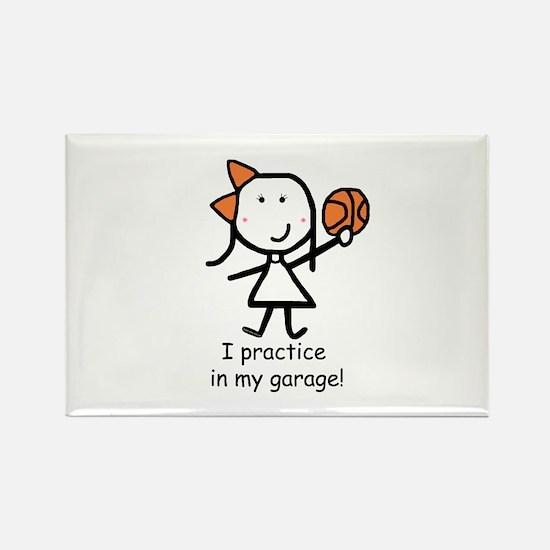 Basketball - Garage Rectangle Magnet