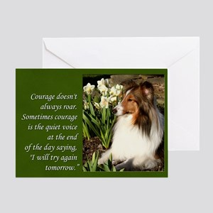 Sheltie Courage Card