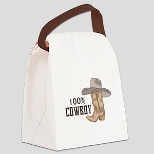 100% COWBOY Canvas Lunch Bag