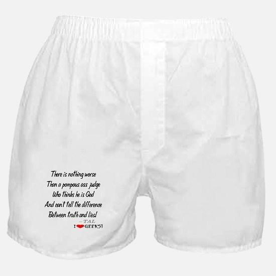 Pompous Ass Judge Boxer Shorts
