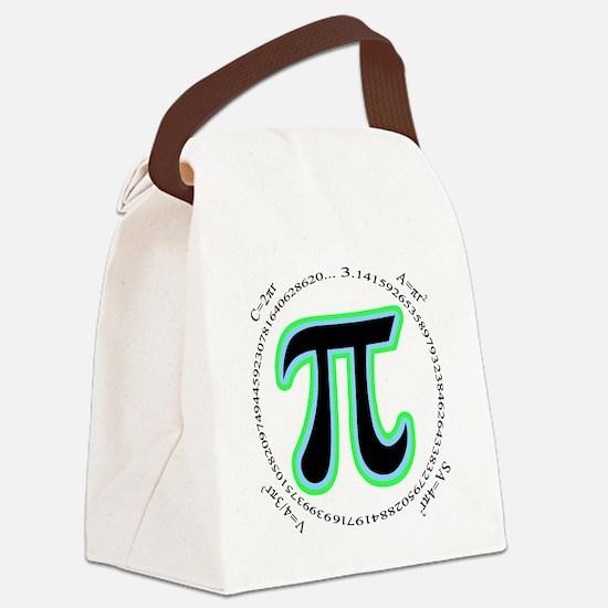 Pi Design Canvas Lunch Bag