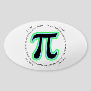 Pi Design Sticker (Oval)