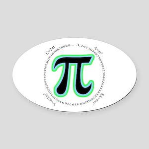 Pi Design Oval Car Magnet