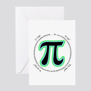 Pi Design Greeting Card