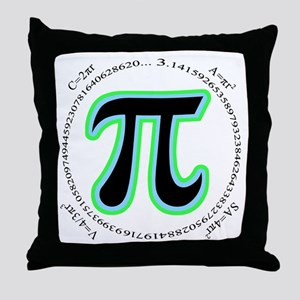 Pi Design Throw Pillow
