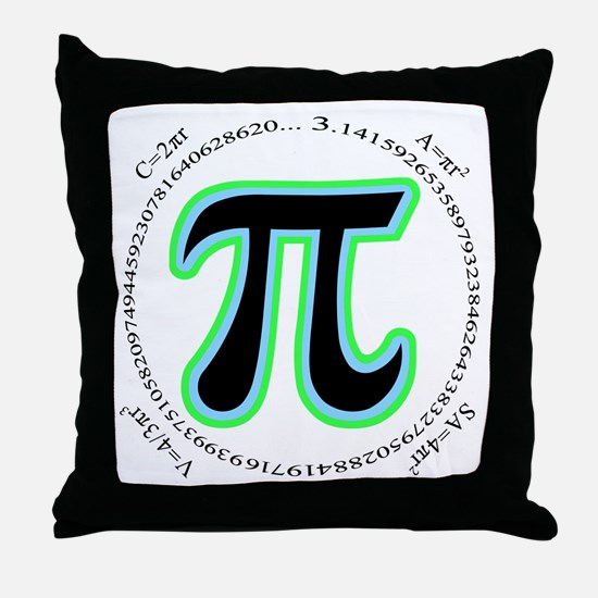 Pi Design Throw Pillow