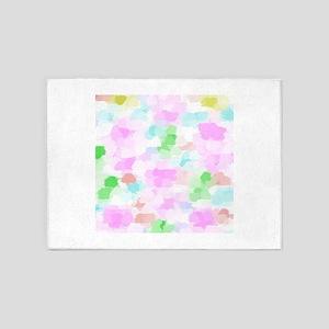 spring pink pattern 5'x7'Area Rug