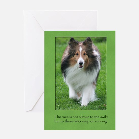 Don't Give Up Sheltie Card