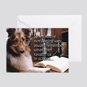 Get Well Sheltie Greeting Card