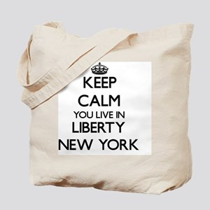 Keep calm you live in Liberty New York Tote Bag