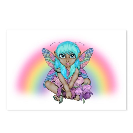 Rainbow Fairy Teal Postcards (Package of 8)